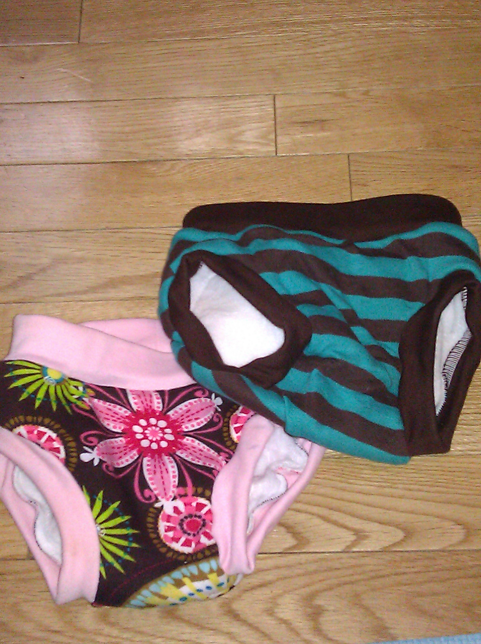 My baby's cute new training panties