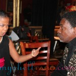 Mma-Syrai rehearsing with Keith David before the show