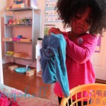 The three-year-old folded all of her laundry today with a Bilibo break in between